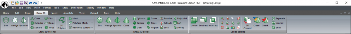 IntelliCAD Ribbon - Edit